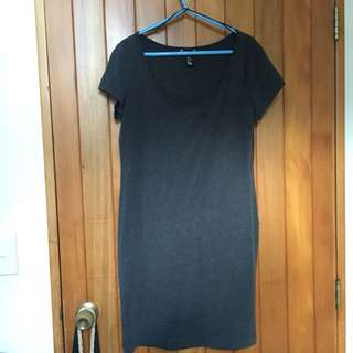 Dark grey tshirt dress