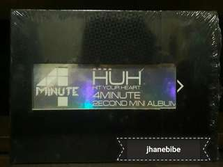 4Minute 2nd Mini Album Hit Your Heart HUH