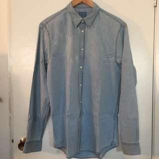 Boyfriend Fit Denim Shirt