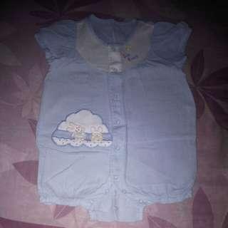 Pastel blue romper (girl)