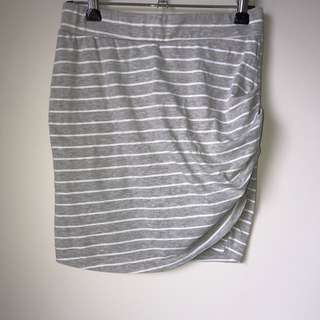 Grey striped skirt