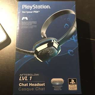 Afterglow Lvl1 Chat Headset for PS4