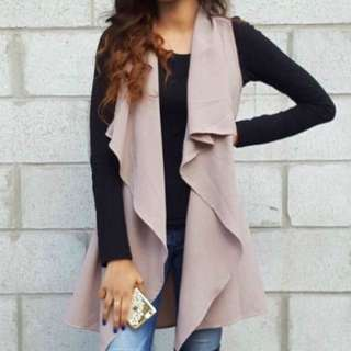 Waterfall Sleeveless Cardigan