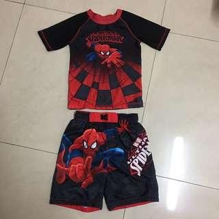二手貨小童蜘蛛俠沙灘泳衣褲