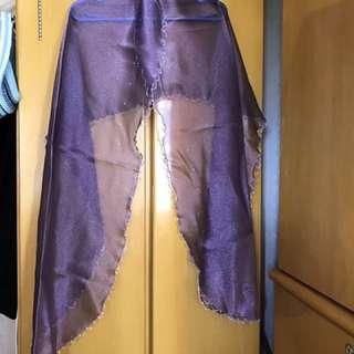 紫色晚裝絲巾,圍巾scarf