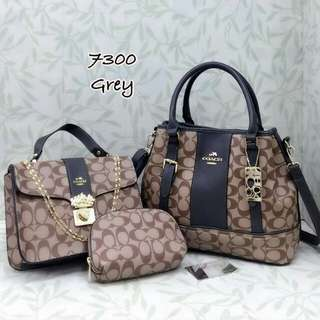 Coach 3 in 1 Bags Grey Color