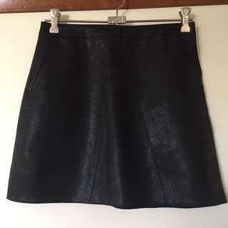 BNWT Size S Neon Hart Aline leather look skirt