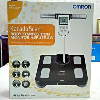 OMRON Body Fat Monitor HBF 358 BW (New)