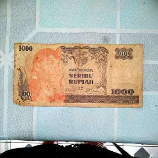 Uang kertas rp 1.000