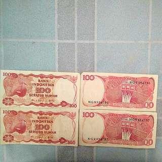 Uang kertas rp 100