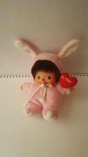 Monchhichi bb in rabbit costume