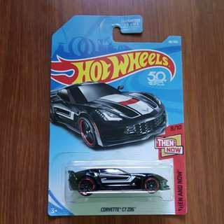Corvettr C7 Z06 Hotwheels US Card