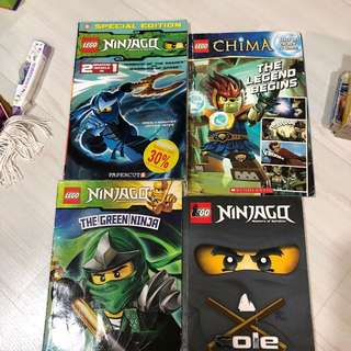 4 LEGO Ninjago and Chima books