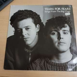 Tears For Fears Songs From The Big Chair Vinyl LP Original Pressing Rare