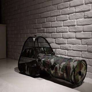"""Camo"" 50cm Cat Tunnel and Tent"