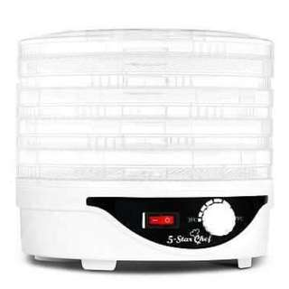 5 Tray Round Food Dehydrator White