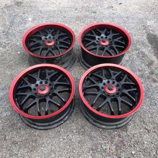 16' SPARCO CRIMSON MALE FEMALE RARE 7JJ 8JJ