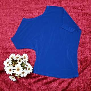 Classic Royal Blue Off Shoulder Top