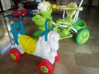 BUNDLE: 3-Wheel Bike & Horse on Wheels