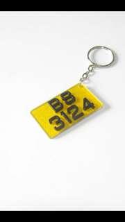車牌鎖匙扣