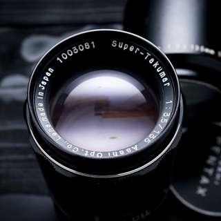 Pentax 135mm f3.5 M42 mount lens