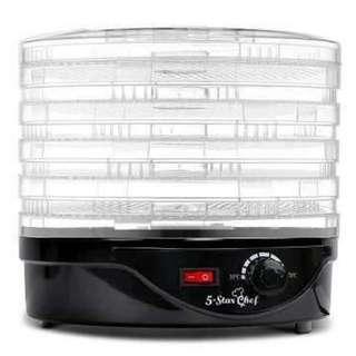 5 Tray Round Food Dehydrator Black