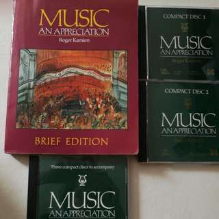 Music an appreciation textbook+ 3 disc accompanying