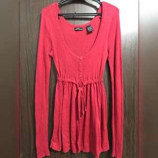 Moda International knitted henley empire waist top