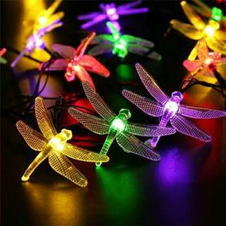 Butterfly LED Solar Power Decoration  6 m 30 dragonflies