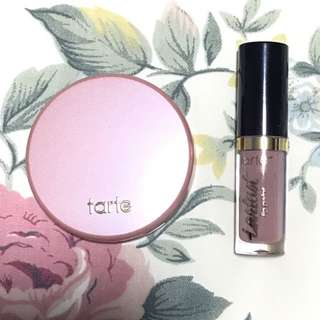 Tarte 12 hr blush and Lip paint
