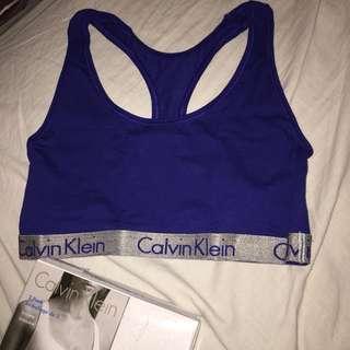 Calvin Klein blue bralette