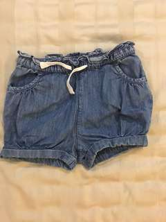 babyGap shorts | washed denim with drawstrings | for girls