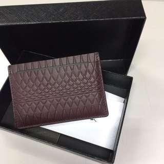 Paul Smith card holder 飛甩雞毛 wallet Purse 銀包 卡片包 禮物 女朋友 男朋友 名牌 luxury 意大利 真皮 leather