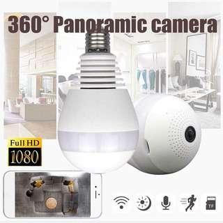360 Panoramic CCTV Bulb Camera