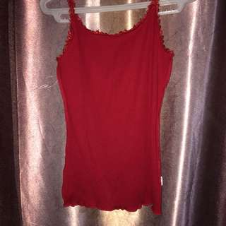 Laced strap tank top