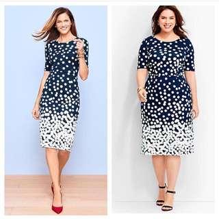 Polka Dress Big Size