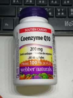 Webber Natural CoQ10 , 200mg, 60粒, CQ10