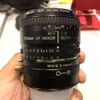 Nikon 50mm f1.8 Manual Lens with Adapter for Sony A7 series