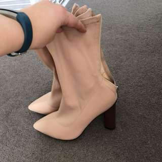 New ego shoes blush heeled bootie