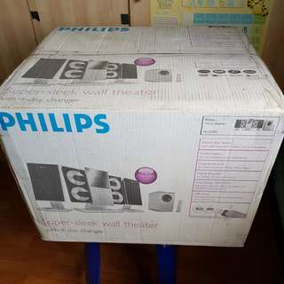 Philips micro theater system with 4 dvd disc changer with subwoofer