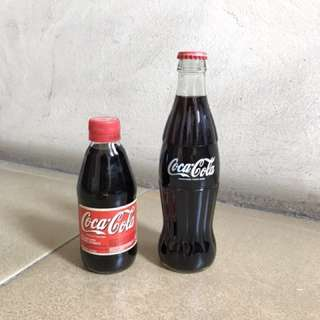 Coca-Cola UK 1990 rare glass bottles (250ml & 330ml)