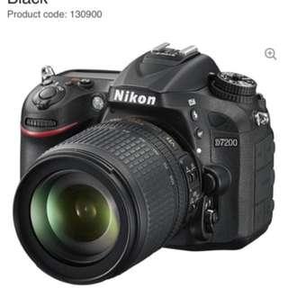 NIKON D7200 DSLR Camera with 18-105 mm