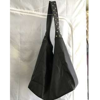 Dangerfield studded large shoulder hobo bag