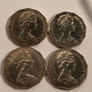 1976.1981.83 Australia  4pc