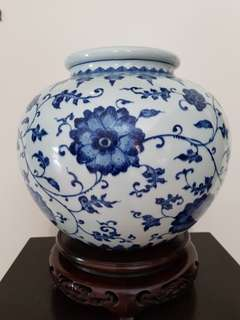 Vase Blue & White porcelain