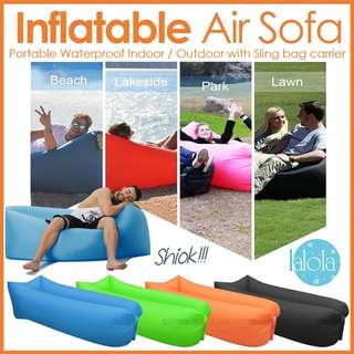 ✔FREE DELIVERY: Inflatable Air SofaOutdoor Beach Camping (buy 5 sets get free Delivery. Buy 1 set get Free Postage) suitable for yoga picnic etc