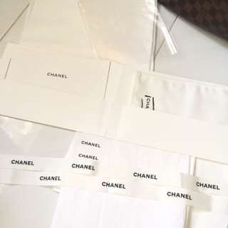 Chanel Booklet and Wiping Cloth with Chanel printed paper