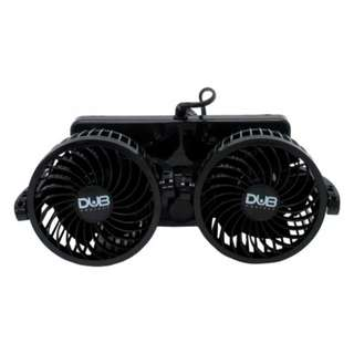 Dub CFD-900 Double-headed Vehicle Fan(Black)
