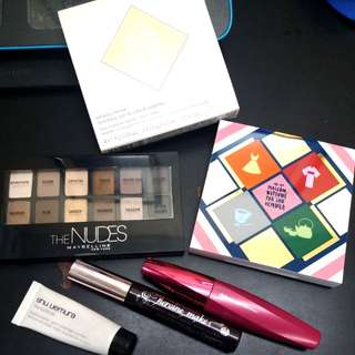 (Price reduced)Shu uemura, Maybelline palette