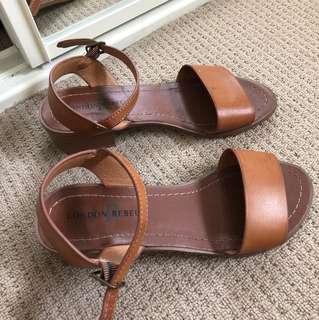 London rebel brown sandals